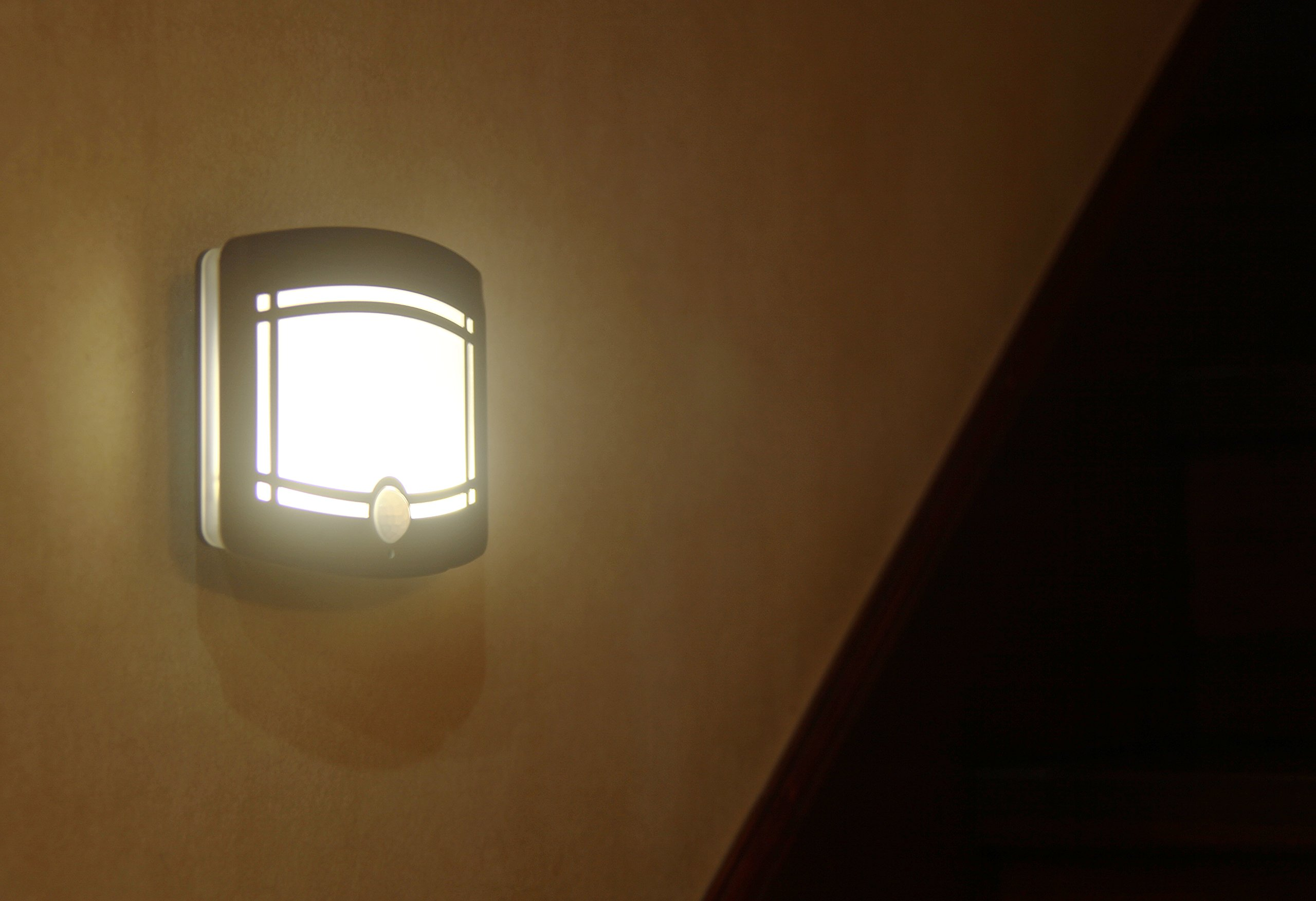 Motion Sensor Auto LED Night Light - Soft Warm White Wireless Wall Sconce Light Controlled by Motion Activated Sensing & Light Sensor - Stick on Anywhere Wireless Battery Powered (Not included) by WISLIGHT (Image #6)