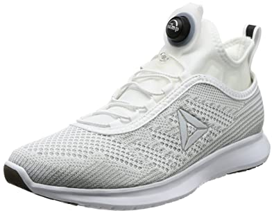 aa8a727879a Reebok Men s Pump Plus Ultk White Skull Grey Black Running Shoes - 10 UK
