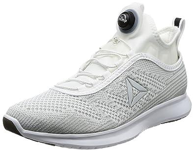 c29a4fb72e61 Reebok Men s Pump Plus Ultk White Skull Grey Black Running Shoes - 10 UK