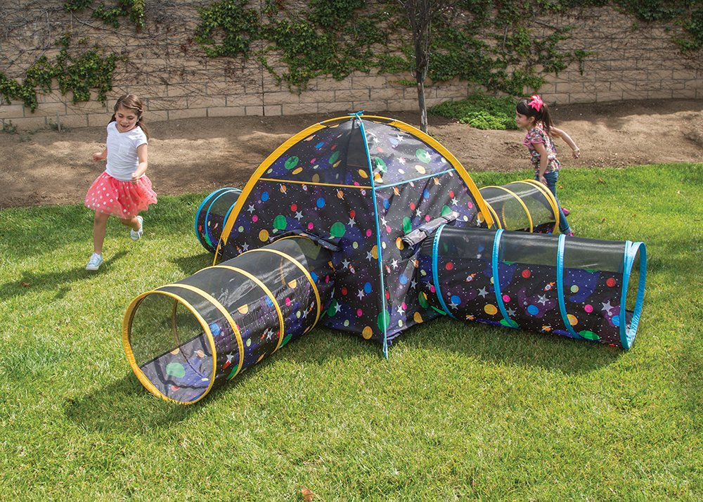 Amazon.com Pacific Play Tents Kids Galaxy Combo Dome Tent with 4 Tunnels - Glow in the Dark Stars Toys u0026 Games & Amazon.com: Pacific Play Tents Kids Galaxy Combo Dome Tent with 4 ...