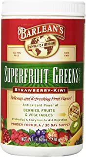 product image for Barlean's SuperFruit Greens Powder - Strawberry Kiwi Flavor - 2 Canisters, 9.52 Ounce Each