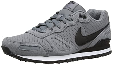 6c1c12b8 ... uk nike air waffle trainer leather mens low top sneakers grey cool grey  ab185 70bbd