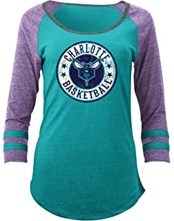 Amazon.com : NBA Women's Assist Raglan Long Sleeve T-Shirt Top ...