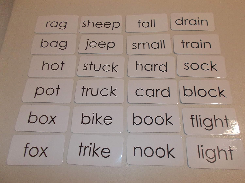 100 Laminated Rhyming Word Flashcards.