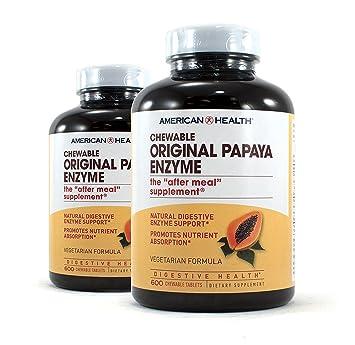 Amazon.com: American Health Enzima Original de papaya ...