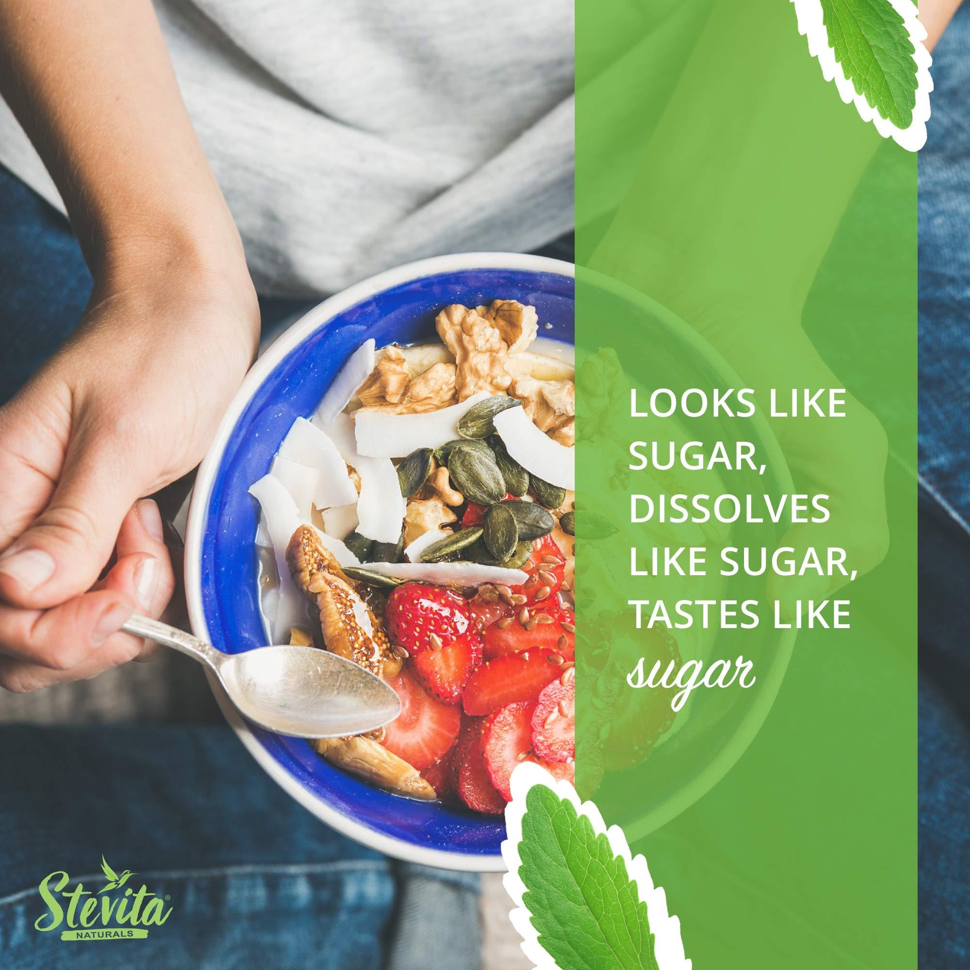 Stevita Stevia Organic Spoonable Stevia Powder - 50 Packets - Stevia & Erythritol All Natural Sweetener, No Calories - USDA Organic, Non GMO, Vegan, Keto, Paleo, Gluten-Free - 50 Servings by STEVITA (Image #4)