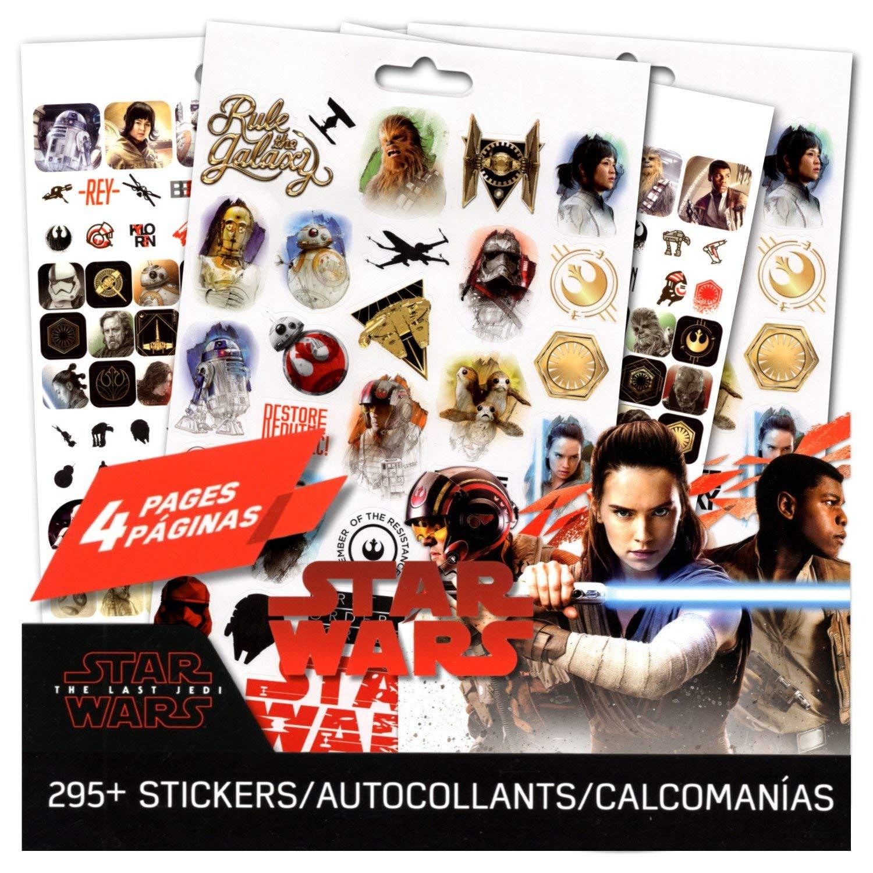 Star Wars The Last Jedi Stickers ~ 4 Page Star Wars Sticker Pad with Over 295 Star Wars Stickers Trends