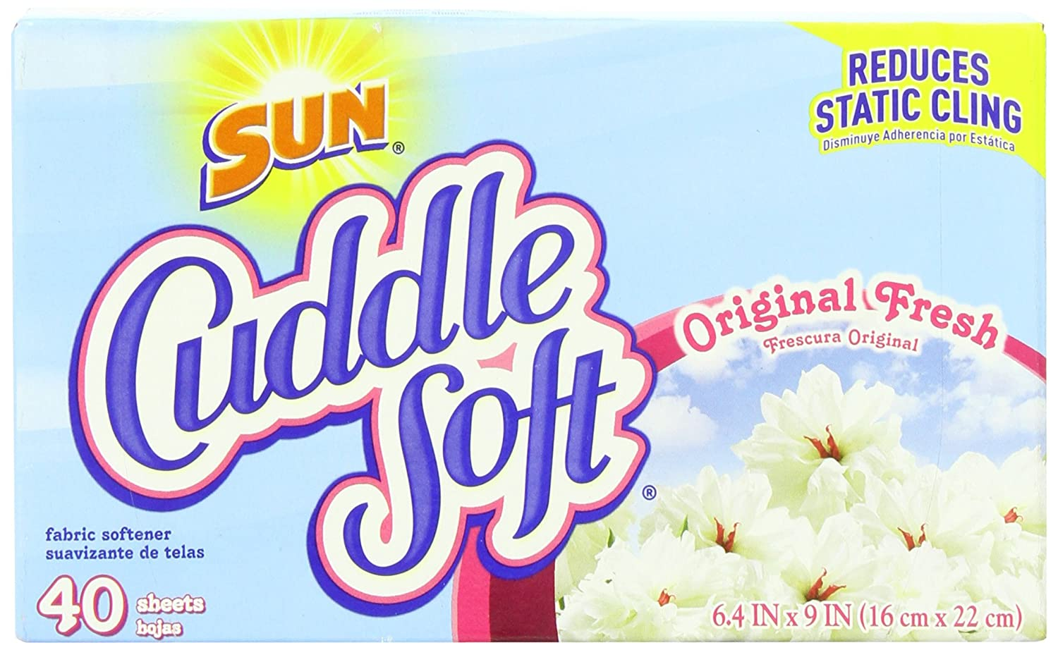 Amazon.com: Sun Cuddle Soft Fabric Softener Dryer Sheets, Original Fresh, 40 Count: Health & Personal Care
