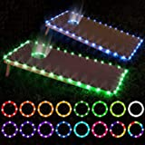 LED Cornhole Lights, Remote Control Cornhole Board Edge and Ring LED Lights, 16Color change by yourself, a great addition for