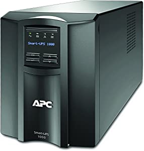 APC 1000VA Smart UPS with SmartConnect, SMT1000C Sinewave UPS Battery Backup, AVR, 120V, Line Interactive Uninterruptible Power Supply