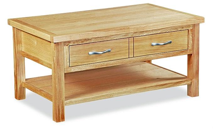Oak Coffee Table Roseland Furniture Ltd London Oak Coffee Table with Baskets