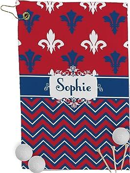 Patriótica Fleur de Lis toalla de Golf - Full Print (personalizado): Amazon.es: Deportes y aire libre