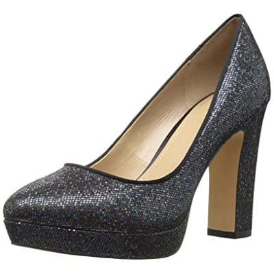 Brand - The Fix Women's Brooke High-Heel Platform Dress Pump, Black Party Glitter, 8.5 B US: Shoes
