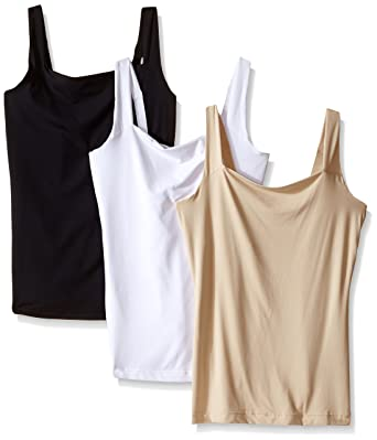 271259f325d32 Flexees Women s Maidenform Shapewear Fat Free Dressing Tank 3 Pack Bundle