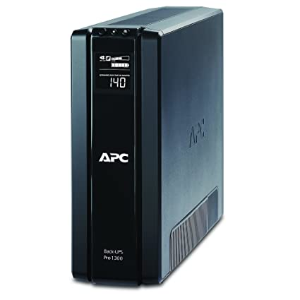 amazon com: apc back-ups pro 1300va ups battery backup & surge protector  (br1300g): home audio & theater