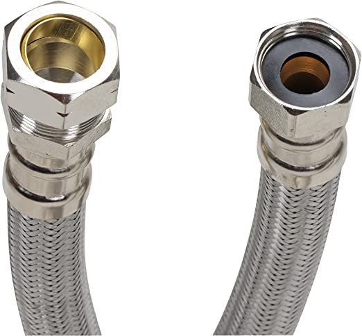 """2PCS 3//4/"""" FIP x 18/"""" Corrugated Stainless Steel Flexible Water Heater Connector"""