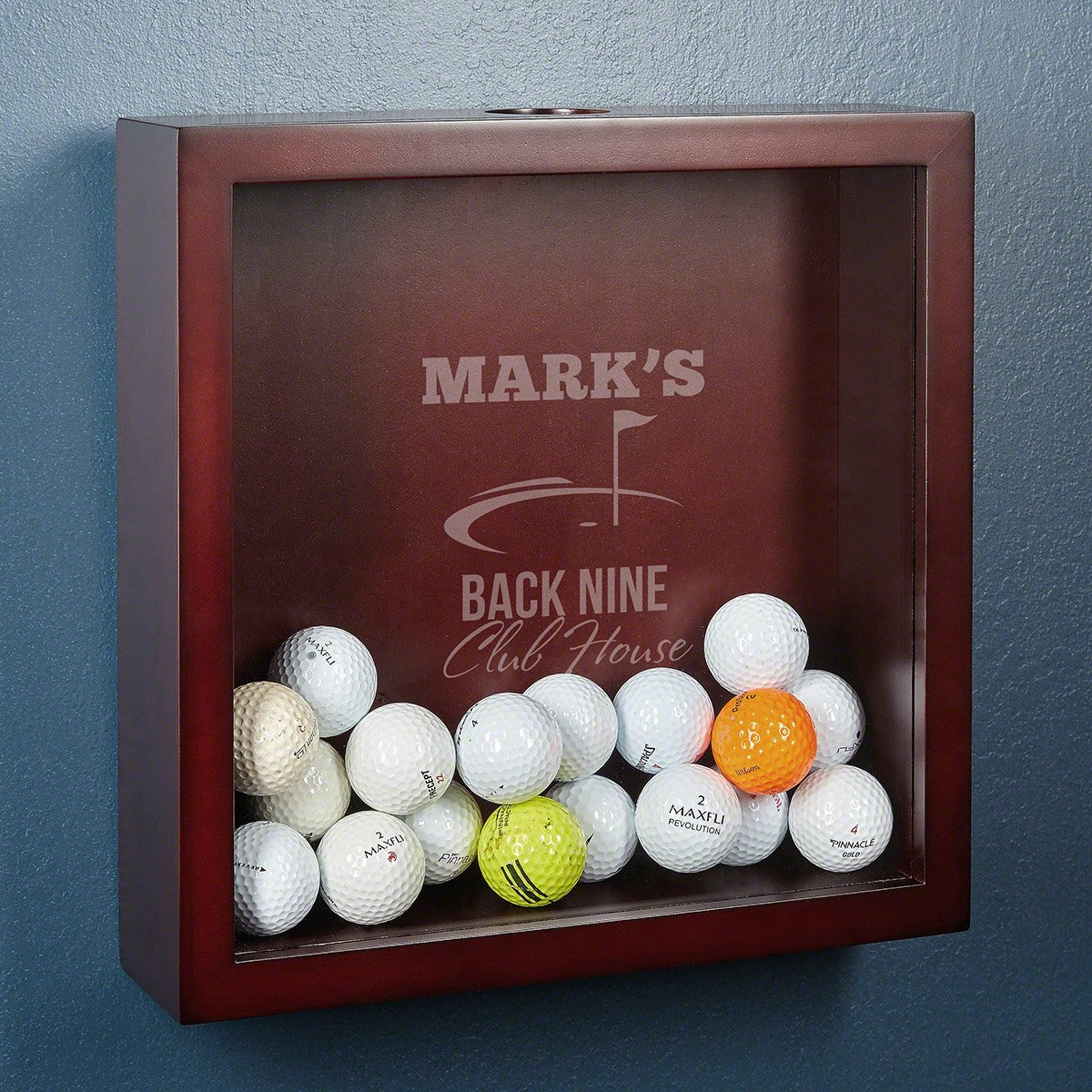 Back Nine Club House Personalized Golf Shadow Box by HomeWetBar - Perfect Gift for Golfers
