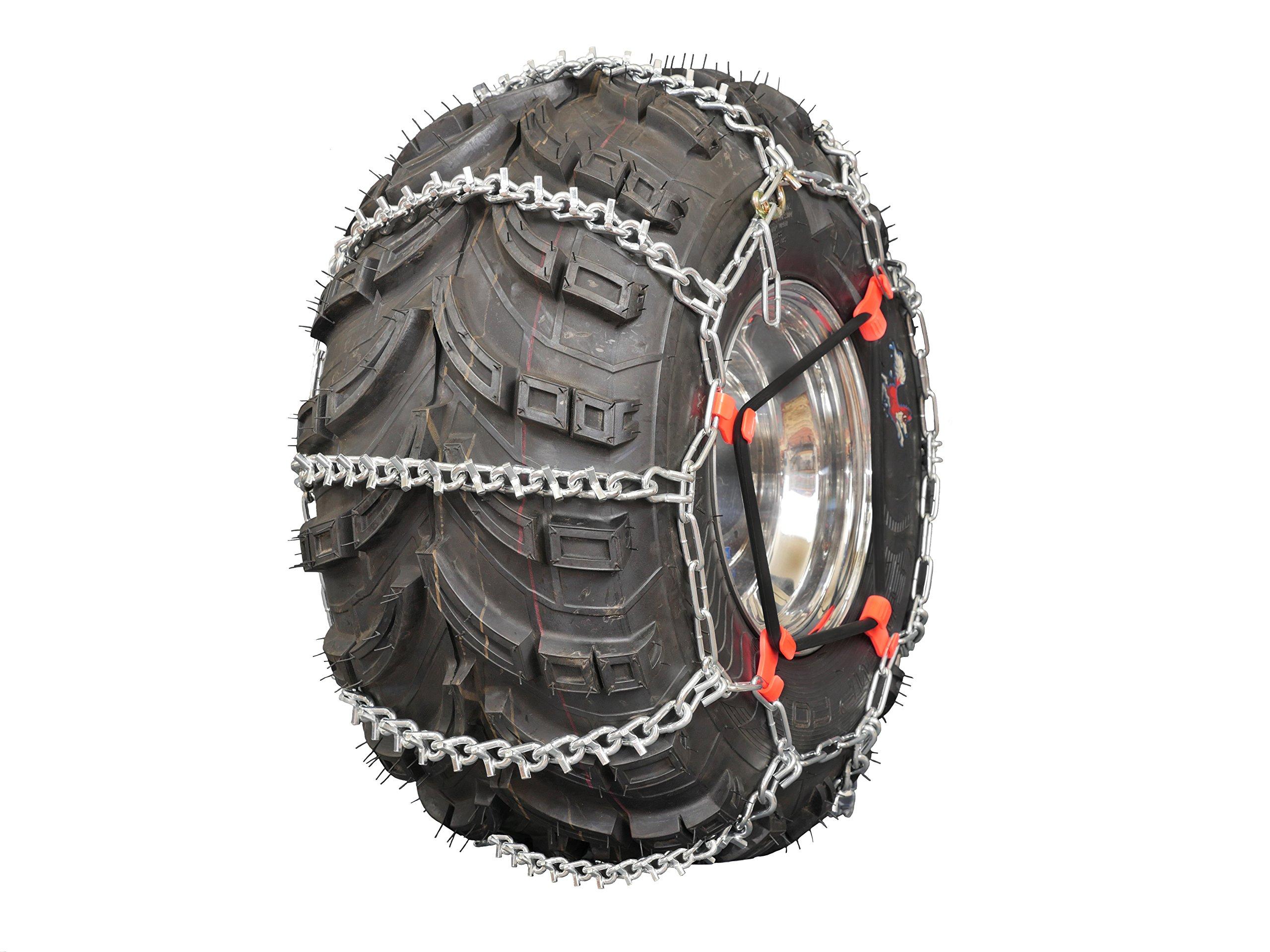 Grizzlar GTU-617 ATV 4 Link Ladder Alloy Tire Chains with Tensioners 24x13-9 25x10-10 25x10-12 25x11-10 25x10.5-15 25x12-9 25x12-10 by Grizzlar