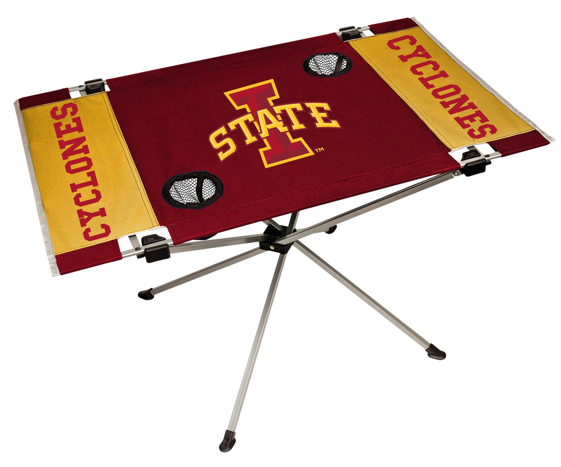 Rawlings NCAA Iowa State Cyclones NCAA Endzone Tailgate Table, Red, 31.5'' Large x 20.7'' W x 19'' H by Rawlings