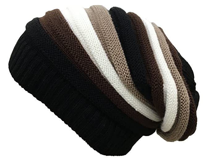 07e127d5f48 Gajraj Bob Marley Inspired Multicolor Striped Beanie for Men   Women  (Coffee-Fawn-
