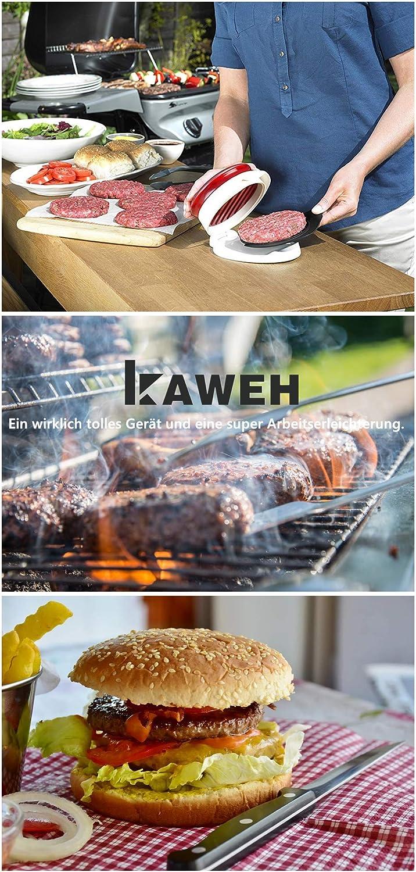 kaweh Burger Press with Patty Lifting Device Hamburger Maker 1//4 Pound Plastic 1//2 Pound Inner Diameter 11.5 cm Pattiepress Adjustable Patties Thickness