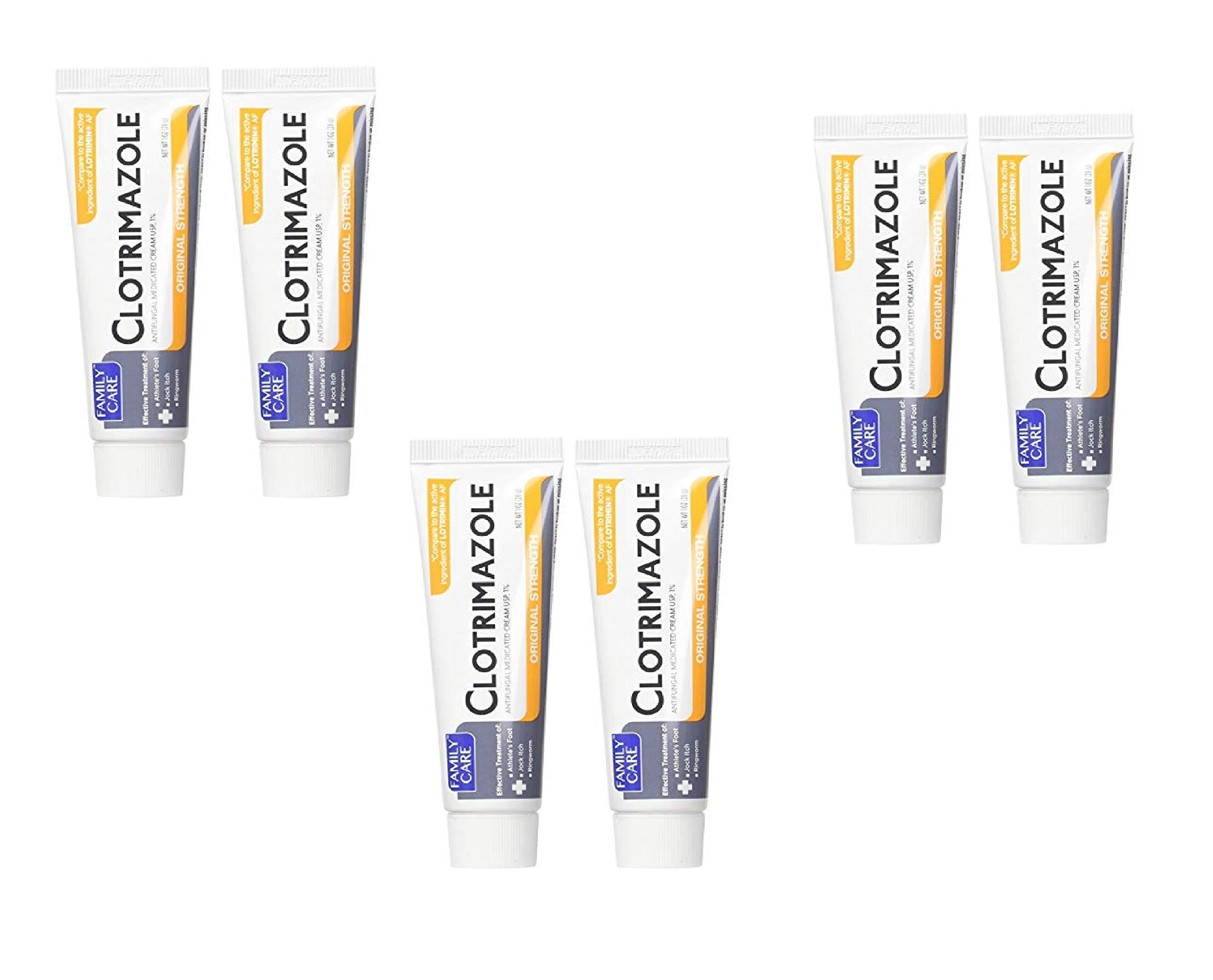 Family Care 831527005052-1 Clotrimazole Anti-Fungal Cream, 1% USP, 2 Count (3 Pack)