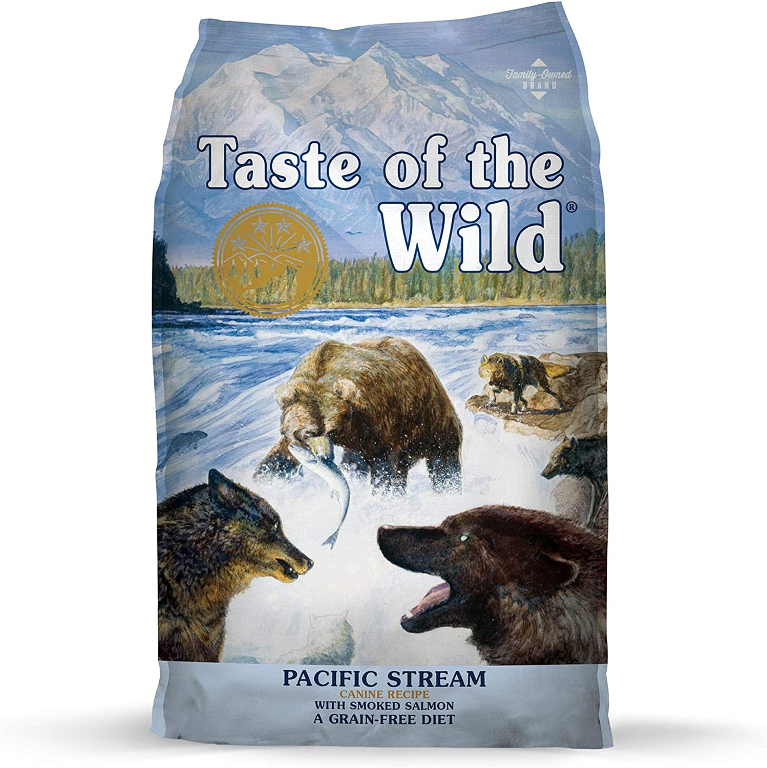 3. Taste of the Wild Pacific Stream Grain-Free Dry Dog Food
