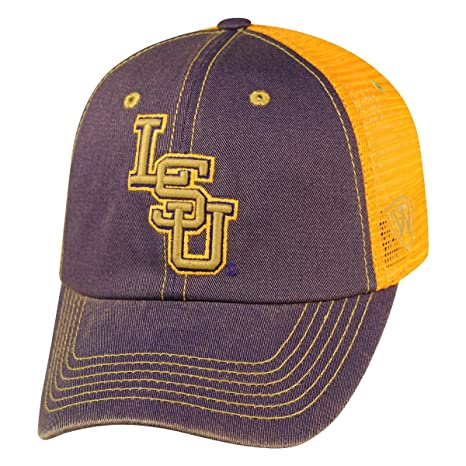 online store b54aa a8ead Image Unavailable. Image not available for. Color  LSU Tigers NCAA Top of  the World  quot Past quot  Adjustable Mesh Back Hat