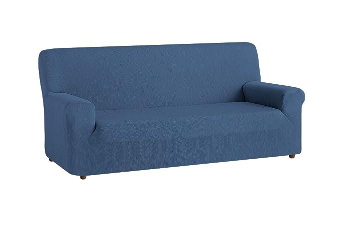 textil-home Funda de Sofá Elástica TEIDE, 4 plazas - Desde 240 a 270 cm. Color Azul: Amazon.es: Hogar