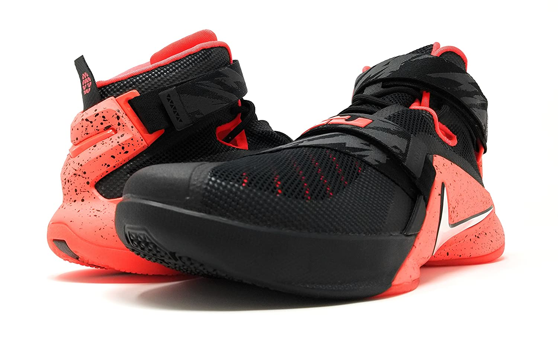wholesale dealer facee 30392 Amazon.com   nike lebron soldier IX PRM mens hi top basketball trainers  749490 sneakers shoes (uk 10 us 11 eu 45, black white bright crimson 016)    ...
