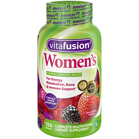 Vitafusion Womens Gummy Vitamins, Natural Berry Flavors, 150 Count by Vitafusion