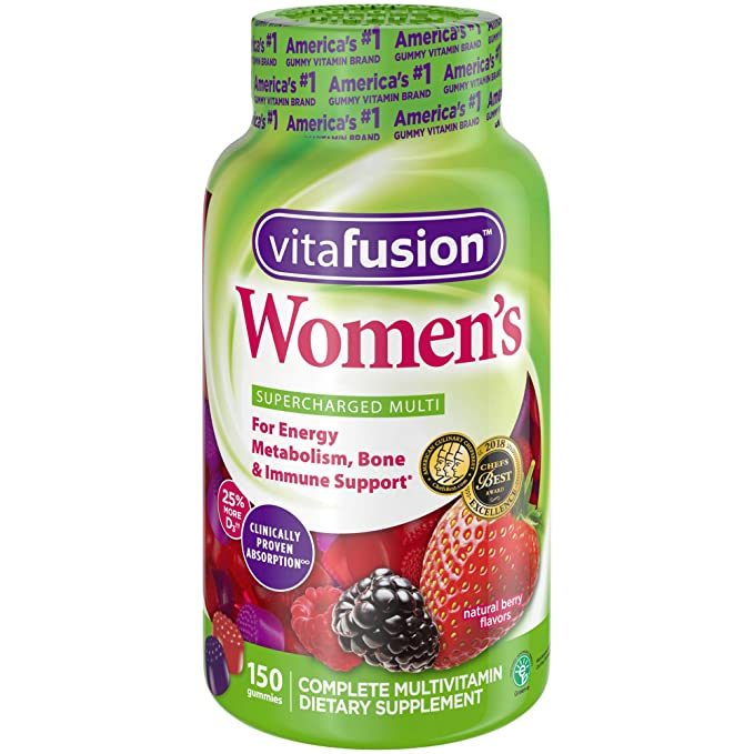 Vitafusion Womens Gummy Vitamins, Natural Berry Flavors, 150 Count by Vitafusion: Amazon.es: Salud y cuidado personal