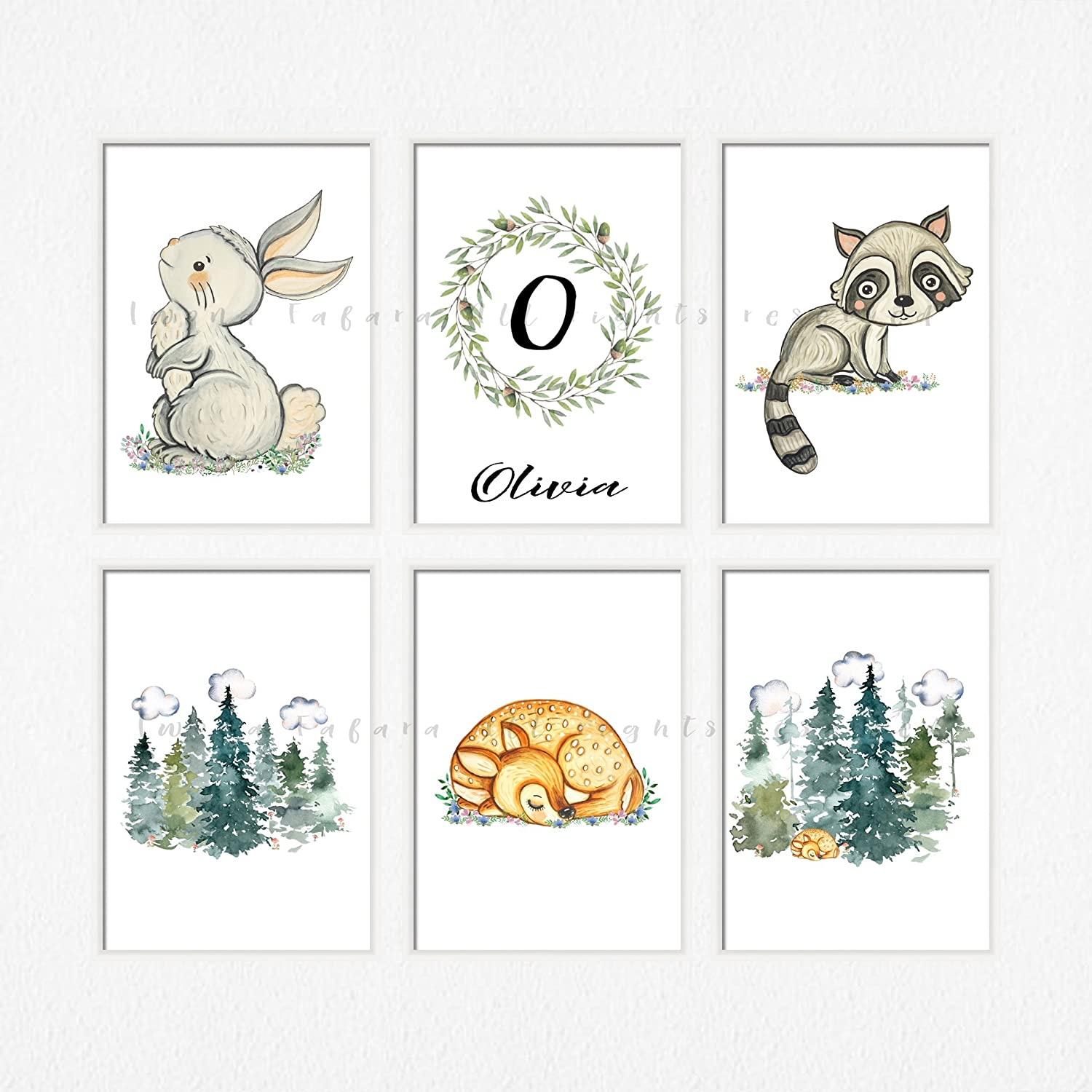 image about Printable Decorations called : Boy woodland decor Printable woodland pets