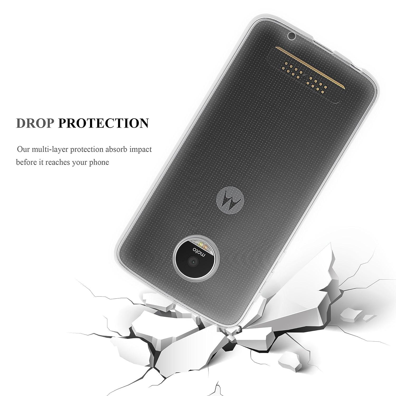 Cadorabo Funda para Motorola Moto Z Play en Transparente: Amazon.es: Electrónica