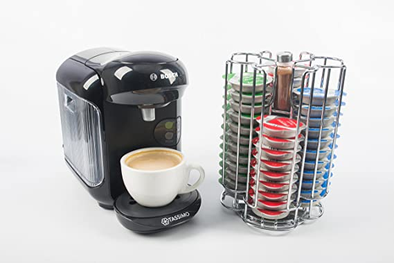 Tassimo Revolving Stainless Steel T-Disc Pod Holder (Stores 52 Capsules) - Includes FREE Chocolate Shaker by Kitchen Stars: Amazon.es: Hogar