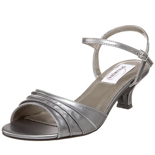 Dyeables Women's Brielle Ankle-Strap Sandal,Pewter Metallic,6 ...