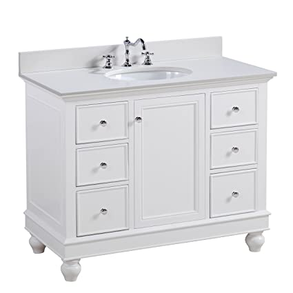 Bella 42-inch Bathroom Vanity (Quartz/White): Includes a White ... on 42 inch vanity tops, 42 inch smart tv, 42 inch computer desks, 42 inch refrigerator, 42 inch base cabinets, 42 inch sink cabinet, 42 inch kitchen sinks undermount, 42 inch wide vanity, 42 inch tv in room, 42 inch bathroom sink, 42 inch kitchen cabinets, 42 inch sofas, 42 inch round table, 42 inch doors, 42 inch bathroom mirror, 42 inch flat screen tv, 42 inch light fixtures, 42 inch furniture, 42 inch bath cabinet, 42 inch fireplaces,