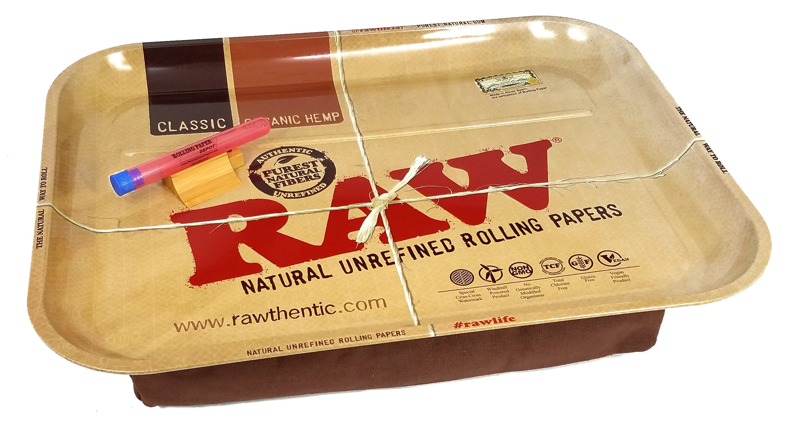 RAW Huge Beanbag XXL Rolling Tray with Rolling Paper Depot XL Doobtube