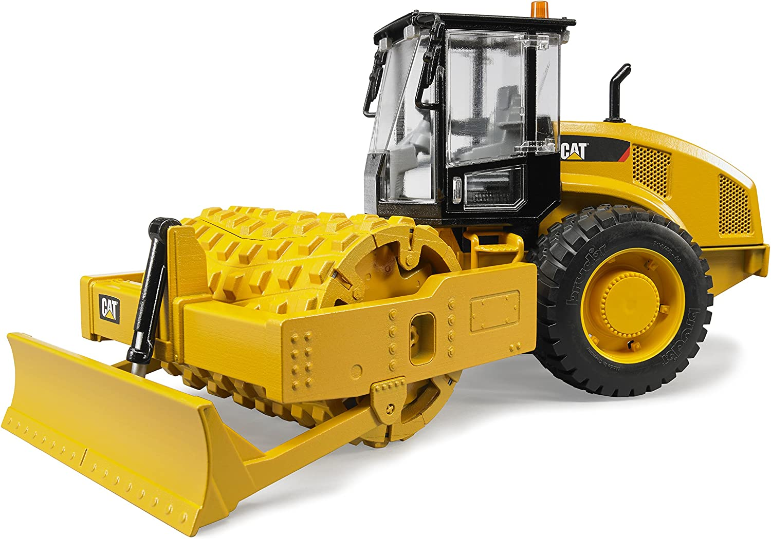 Bruder 02451 Caterpillar Soil Compactor with Leveling Blade
