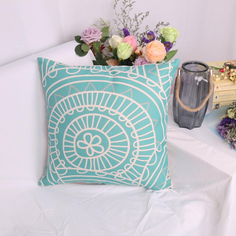 Lomofila Cotton Linen Home Decorative Throw Pillow Case Cushion Cover for Sofa Couch Wedding Gift Housewarming - 18\