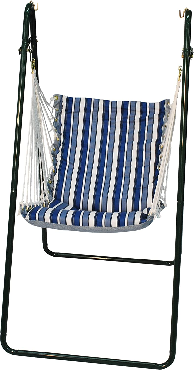 Algoma 1525 135142br Swing Chair With Brass Colored Stand Camping Chairs Garden Outdoor Amazon Com