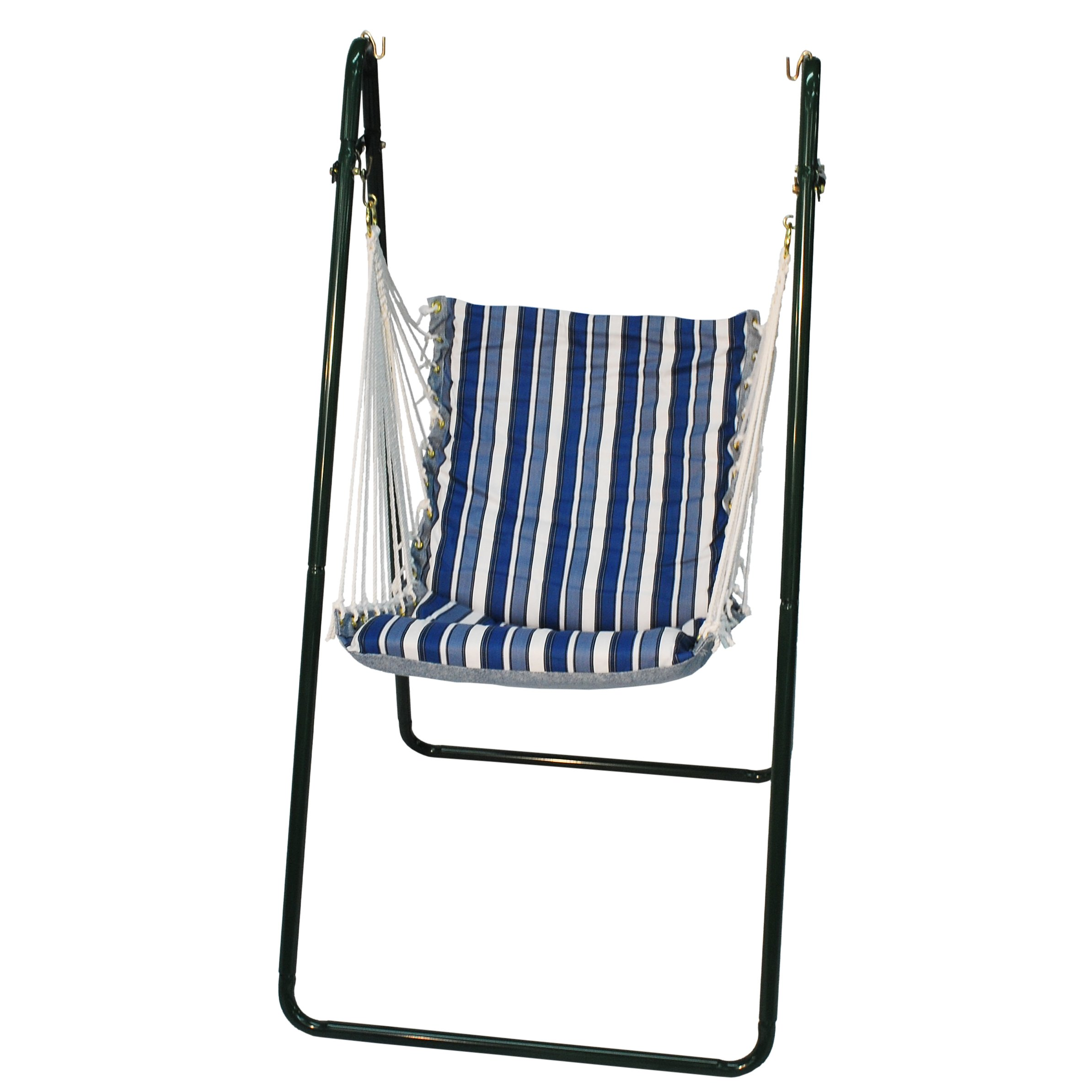 Algoma 1525-135142BR Swing Chair with Brass Colored Stand
