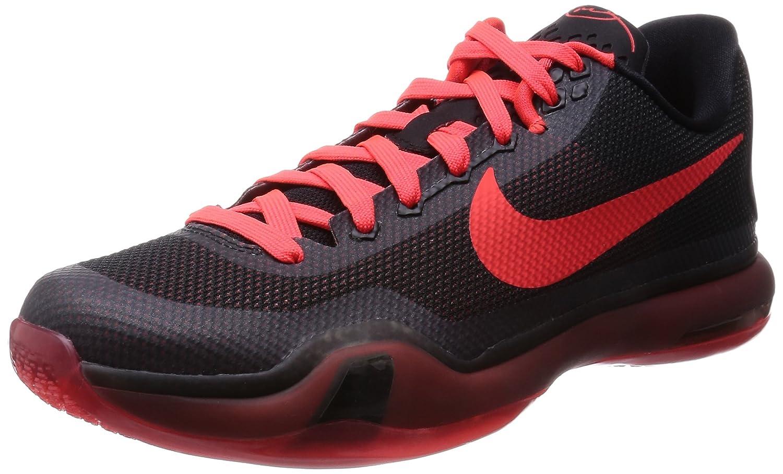 Noir Cramoisi Vif-anthracite Nike Kobe X, Chaussures de Basket-Ball pour Homme 42.5 EU