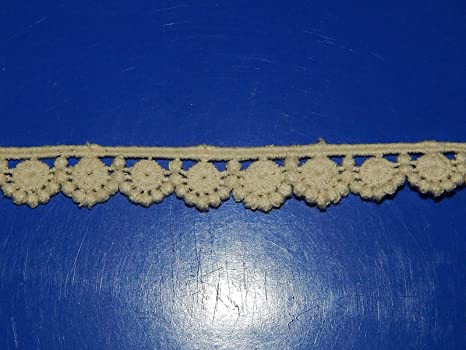 Ivory corded embroidered lace applique aquuilegia
