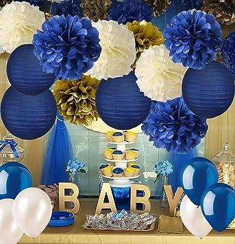12x blue paper lanterns engagement birthday wedding party shower shop decoration