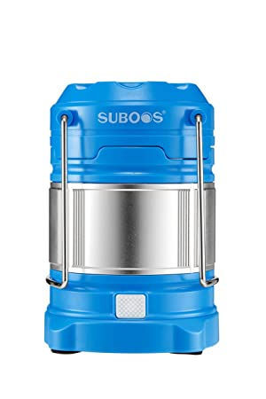 SUBOOS Ultimate Rechargeable LED Lantern and 5200mAh Powerbank – 4 Light Modes-Dual Power – Great for Camping Hiking, Auto Emergencies – Batteries and Hanging Clip Included