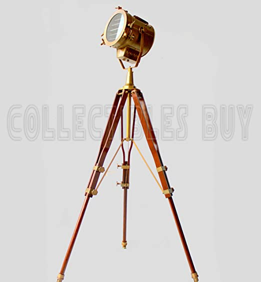 Collectibles Buy Antique Vintage Old Century Moden Searchlight Lamp Timber Tripod Standing Lights at amazon