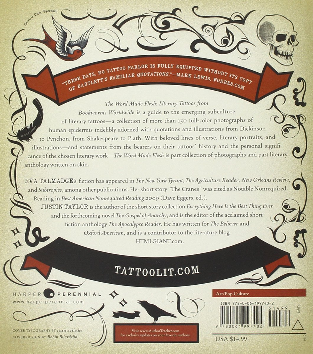 The Word Made Flesh: Literary Tattoos from Bookworms Worldwide ...