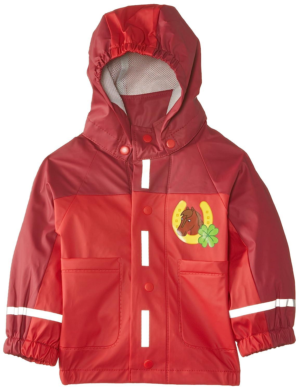 Playshoes Girls Waterproof Raincoat, Rain Jacket Horses Girls Rain Coat Horse