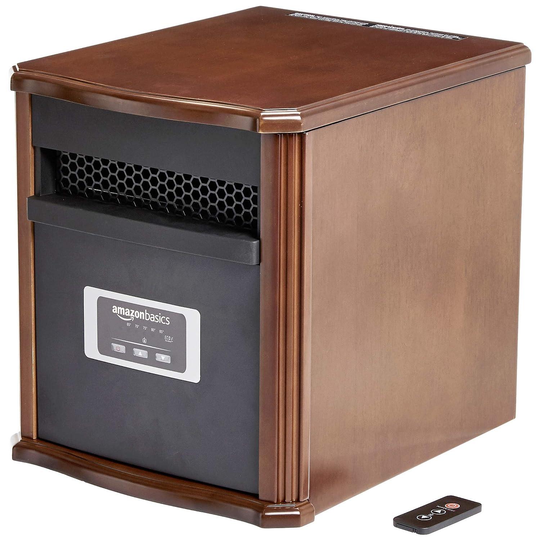 AmazonBasics Portable Space Heater 1500W, Wood Casing